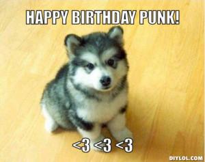 punk happy birthday