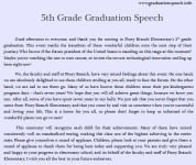 5th, 6th, 7th, 8th Grade Graduation Speech