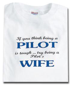 PILOT'S WIFE T-SHIRT MEDIUM at CrewGear More