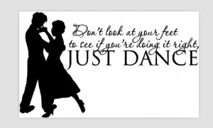 Just Dance Cute Love Passion Decor vinyl wall decal quote sticker ...