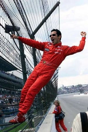 Fence Climbing - Helio Castroneves wins the 2001, Indy 500.