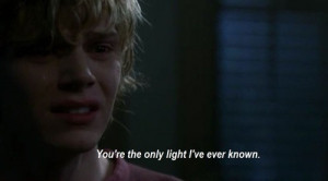 tate langdon Evan Peters quote quotes movies movie AHS b&w thoughts r ...