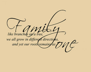 Christian Family Quotes Family roots, family as one,