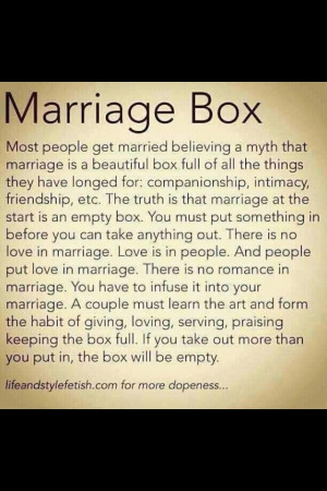 think this is a step people tend to forget. Marriage is hard work ...