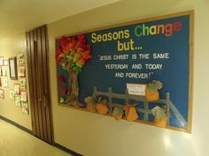 ... same forever bulletin board season change but more boards idea bible
