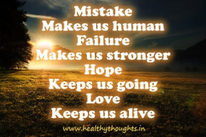 Motivation Quote-wel earn from our mistakes
