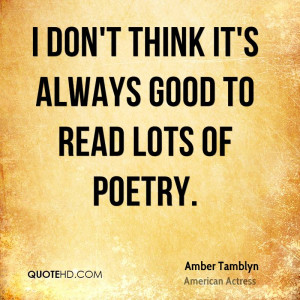 Amber Tamblyn Poetry Quotes