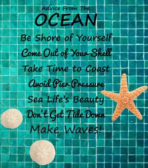 Ocean quote - Motivational wall decor - Starfish sticker - Sand dollar ...