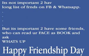 Friendship Day Quotes For Facebook Status ~ Friendship Day 2014 Quotes ...