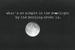 dark, depressing, light, moon, night, sad
