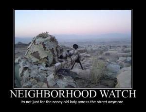 Neighborhood Watch - Military humor
