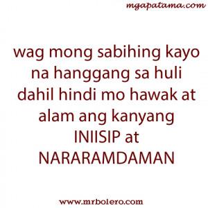 Patama tagalog quotes – INIISIP at NARARAMDAMAN