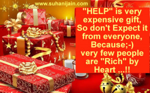 """Good Quote ;Very few people are """"Rich"""" by Heart"""