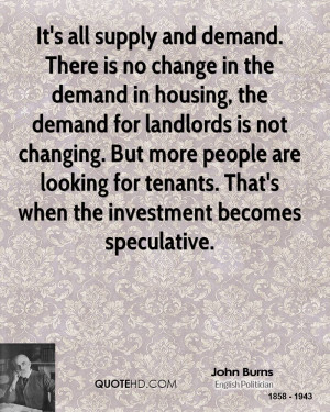 It's all supply and demand. There is no change in the demand in ...