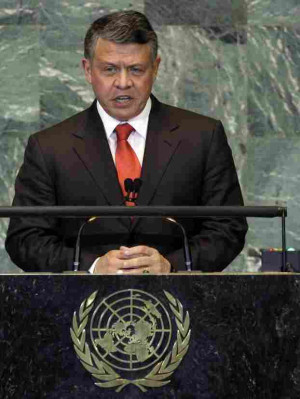 King Abdullah II bin al-Hussein of Jordan addresses the 66th session ...
