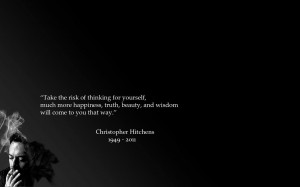 Download Christopher Hitchens quote wallpaper