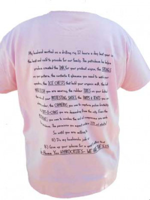 Oilfield T Shirt Ladies Real Housewives Of The Oilfield BACK