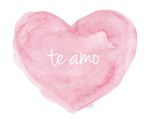 ... Spanish, New Baby Gift, I love You, Love Quote, Watercolor Art Print