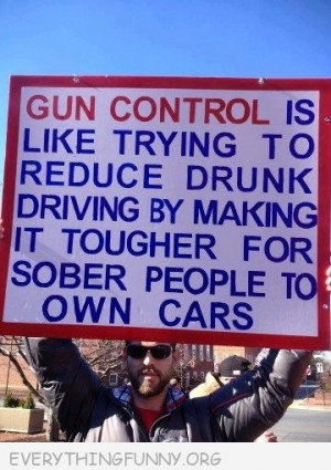Quote Gun Control Like Making Tougher For Sober People Own Cars