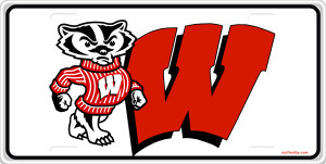 Wisconsin Badgers License Plate License Plate, Wisconsin Badgers ...
