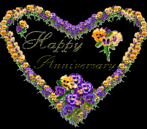 Happy Anniversary Heart Graphic for Fb Share
