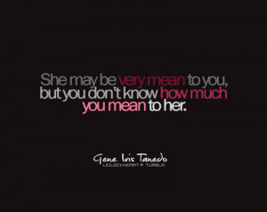 love, mean, quote, quotes, she, she loves you - inspiring picture on ...