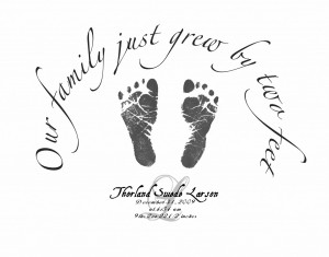 Footprint Baby Announcement Pinkcochon picture