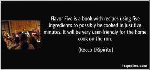Flavor Five is a book with recipes using five ingredients to possibly ...