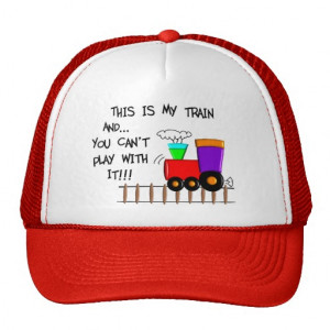 Historical Train Gifts--Hilarious sayings Trucker Hats