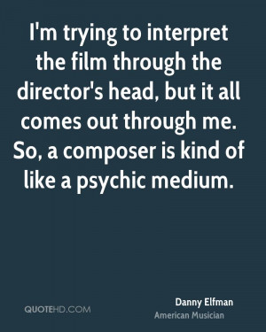 trying to interpret the film through the director's head, but it ...