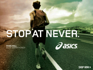 asics stop at never #Running #Motivation