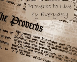 The Bible Proverbs ~Practically Applying them to Life