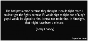 More Gerry Cooney Quotes