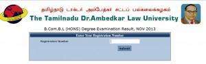 Tamil Nadu Dr Ambedkar Law University Chennai Results