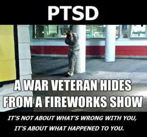 fireworks stress message army important war PTSD veterans