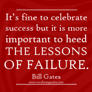 It's fine to celebrate success – Bill Gates quotes