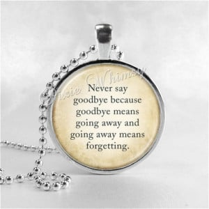 PETER PAN Necklace, Never Say Goodbye, Peter Pan Jewelry, Glass Photo ...