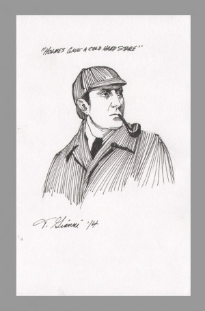 ... -holmes-basil-rathbone-original-art-sketch-thomas-gianni-with-quote-1