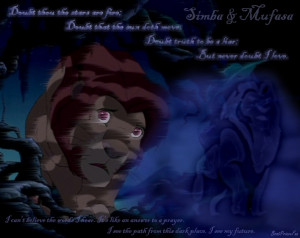 The Lion King Mufasa & Simba - Never Doubt I Love