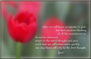 Giving quotes good quotes charity quotes impulse to give quotes