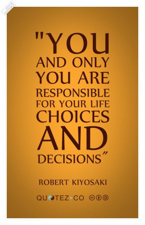 Life choices quote