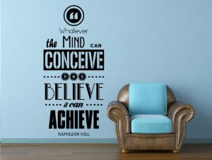 Motivational Quote By Napoleon Hill Removable Wall Decal