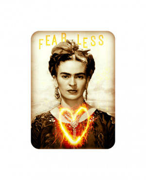 Frida Kahlo Art Print Fearless Quote Original Photomontage Signed New ...