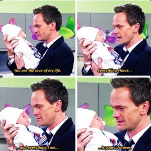 ... When Seeing His Daughter For The First Time On How I Met Your Mother