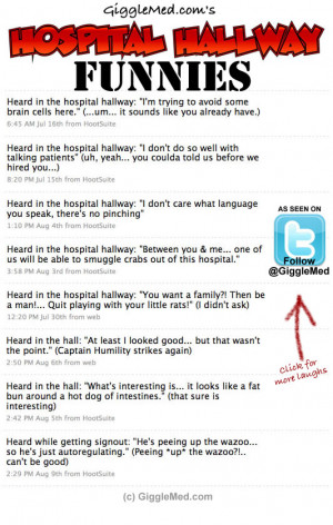 more quotes were added… specifically, quotes heard in the hospital ...
