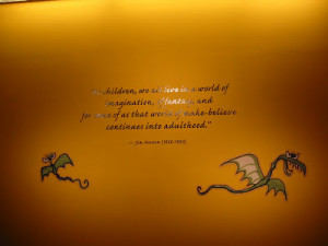 great quote from Jim Henson that summed up the exhibit - it reads