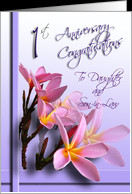 Daughter and Son-in-law 1st Wedding Anniversary Congratulations card ...