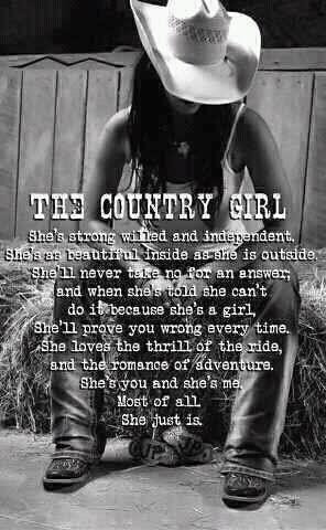 Quotes short country girl 55 Best