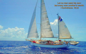 Natural Sailing in Sea Bible Verse