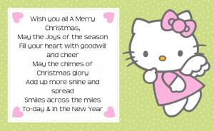 Hello Kitty Christmas Quotes Tag Label Printable